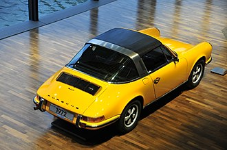 "Targa top - 1972 Porsche 911T Targa: where the designation ""Targa"" appears for the first time."