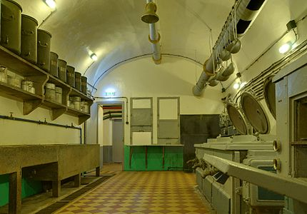 Kitchen in the Ouvrage Schoenenbourg