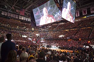 Cavaliers–Warriors rivalry - Inside Quicken Loans Arena in Cleveland before the start of Game 4 of the 2016 NBA Finals.