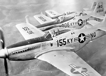 Formation of Kentucky ANG P-51 Mustangs, 1947 165th Fighter Squadron F-51D Formation.jpg
