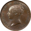 1843 Great Britain Half Farthing Obverse.png