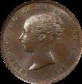1843 Great Britain Half Farthing Obverse.png