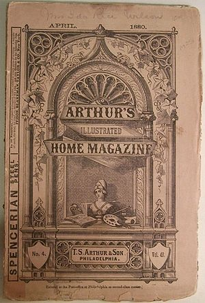 Arthur's Lady's Home Magazine - Image: 1880 Arthurs Illustrated Home Magazine v 48 no 4