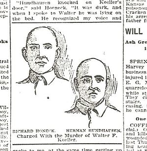 1899 Drawing of convicts Richard Honeck and Herman Hundhausen.jpg