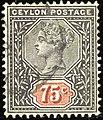 1899ca 75c Ceylon used Yv131 Mi124 SG262.jpg