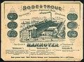 1900 circa Bode & Troue Werbeblatt Stahlstich Vogelschau Gebäude Engelbosteler Damm Bodestraße Rob. Leunis & Chapman, Bildseite 01.jpg