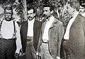 1903 El general Tomás Regalado Romero (1867-1906, tercero de izq. a der.) le entrega el Poder Ejecutivo al mandatario electo, el santaneco Pedro José Escalón (primero, a la izq.).jpg