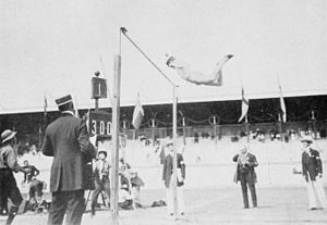 Athletics at the 1912 Summer Olympics – Men's decathlon - Hugo Wieslander in pole vault.
