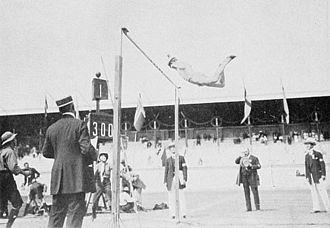 Athletics at the 1912 Summer Olympics – Men's decathlon - Hugo Wieslander in pole vault.