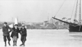 1912 frozen harbor Gloucester Massachusetts USA by Eben Parsons.png