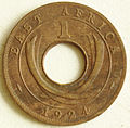 1924 East African 1 cent coin reverse.jpg