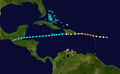 1932 Atlantic hurricane 9 track.png