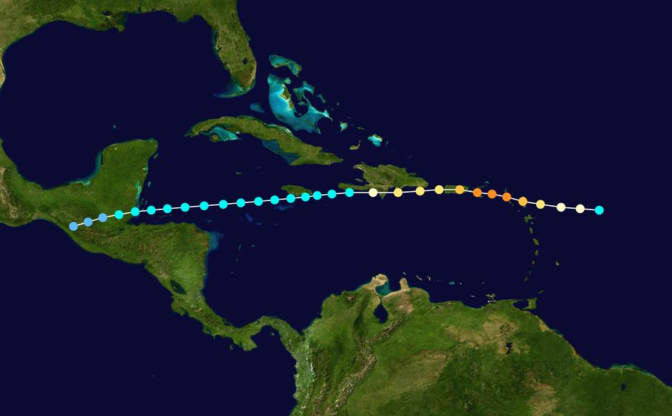 1932 Atlantic hurricane 9 track