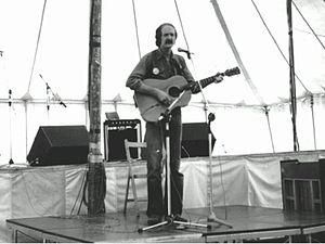 Sonny Black - Bill Boazman in singer/songwriter mode at Bracknell Festival in July 1978