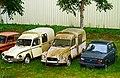 1985 Citroën Acadiane, 1982 Citroën Acadiane and 1977 Fiat 126 A, Saint-Cirq-Madelon, Lot, France (8482267088).jpg