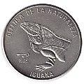 1 песо. Куба. 1985. Природный заповедник - Игуана.jpg