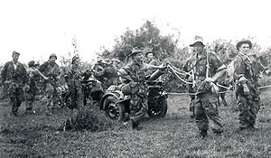 2nd Foreign Parachute Regiment - Legionnaires of the 1st Foreign Parachute Heavy Mortar Company (1re CEPML) in Indochina.
