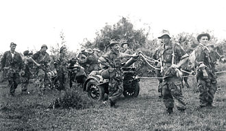French Far East Expeditionary Corps - Soldiers of 1st Foreign Parachute Heavy Mortar Company c.1954.