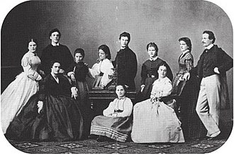 Karl Wittgenstein - The eleven sons and daughters of Hermann and Fanny Wittgenstein, Karl second from left