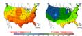 2005-09-17 Color Max-min Temperature Map NOAA.png