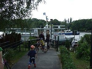 Ferry transport in Berlin - Wilhelmstrand station   of F11 line