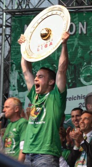 SK Rapid Wien - Steffen Hofmann celebrating the championship 2008.