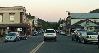 Mariposa, California - Dusk in downtown Mariposa