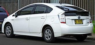 Toyota Prius (XW30) - Image: 2009 Toyota Prius (ZVW30R) liftback (2011 12 06) 02