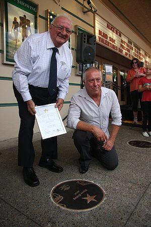 Australian Film Walk of Fame - Steve Bisley at the 2010 Australian Film Walk of Fame with Randwick Mayor Cr. John Procopiadis