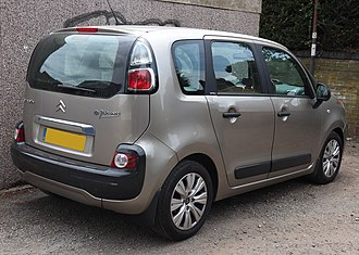 Citroën C3 Picasso - The rear of the C3 Picasso