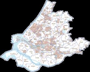 Provincie Zuid-Holland, gemeenten (2011).