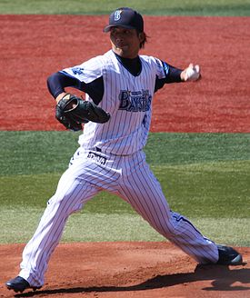 20130316 Shugo Fujii, pitcher of the Yokohama DeNA BayStars, at Yokohama Stadium.JPG