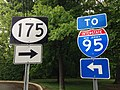 2014-05-16 15 35 16 Signs for New Jersey Route 175 and Interstate 95 on River Road (New Jersey Route 175) in Ewing, New Jersey.JPG
