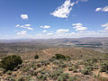 "2014-06-13 12 33 13 View west-northwest from the summit of ""E"" Mountain in the Elko Hills of Nevada.JPG"