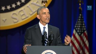 Barack Obamas farewell address Final public speech of Barack Obama as US President