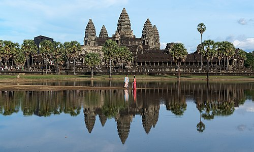 View of the central structure of Angkor Wat