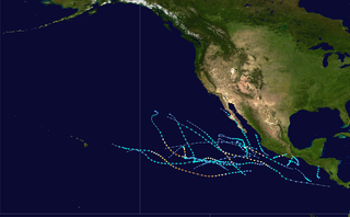 2017 Pacific hurricane season Period of formation of tropical cyclones in the Eastern Pacific Ocean in 2017