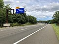2018-07-21 13 00 42 View north along New Jersey State Route 444 (Garden State Parkway) at the entrance to the Montvale Service Area in Montvale, Bergen County, New Jersey.jpg