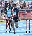 2018-10-16 Stage 2 (Boys' 400 metre hurdles) at 2018 Summer Youth Olympics by Sandro Halank–097.jpg