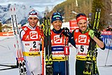 20180128 FIS NC WC Seefeld Riiber Watabe and Rießle cheering 850 3563.jpg