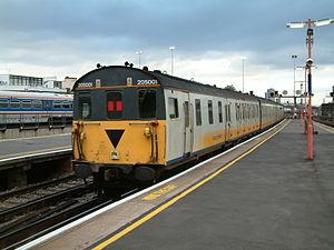 East Kent Railway (heritage) - Unit 205 001 (1101) before preservation, seen at London Bridge