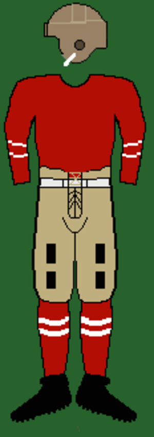 1922 Cornell Big Red football team - Image: 20scornelluniform 2
