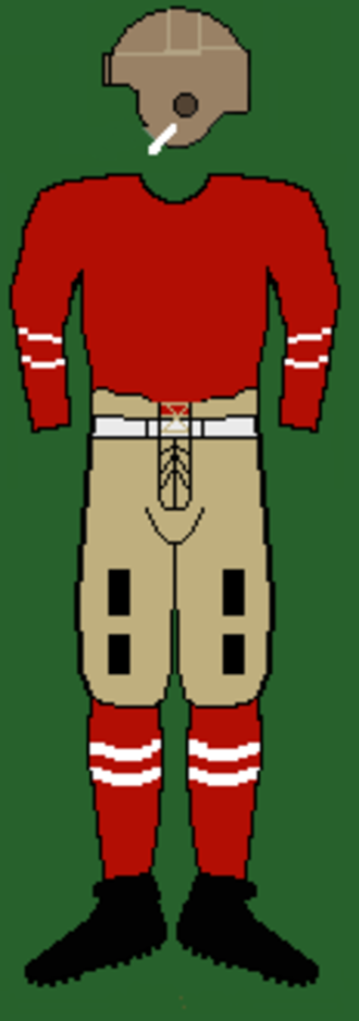 1921 Cornell Big Red football team - Image: 20scornelluniform 2
