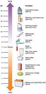 pH measure of the acidity or basicity of an aqueous solution