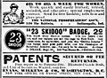 23 Skidoo Badge Ad - New York Tribune (29 July 1906) p. 38.jpg