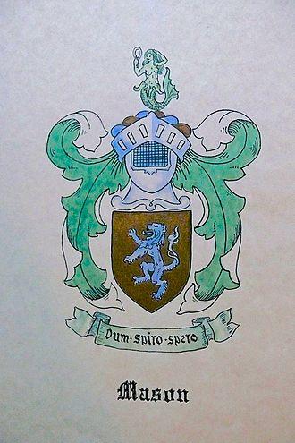 John Mason (c. 1600–1672) - Coat of Arms