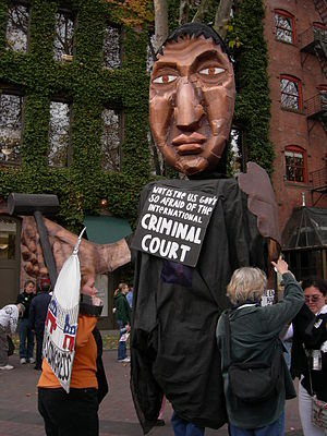 Anti-war rally, Occidental Park, Seattle, Wash...