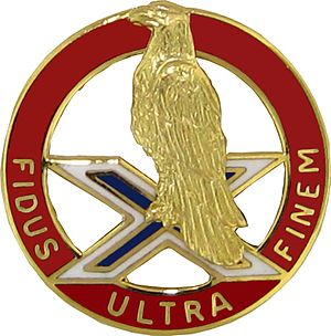 Active regular United States Army units with campaign credit for the War of 1812 - Distinctive Unit Insignia: 1 ADA