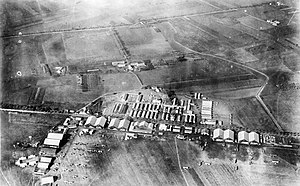 Tours Aerodrome - 2d Air Instructional Center (Looking from the southeast to northwest), Tours Aerodrome, France, 1918