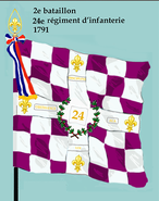 2e bataillon 24e rég inf 1791